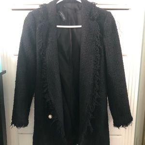 Zara Black Tweed Coat